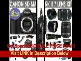 [BEST BUY] Canon EOS 5D MARK II + Canon EF 28-135mm Lens + Canon EF 75-300mm UltraSonic Lens + Canon 50mm Lens +500mm Preset Lens + 650-1300mm Lens + .40x Fisheye Lens + 2x Telephoto Lens + 3 Year Celltime Warra