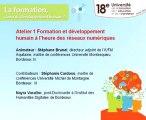 Formation et développement humain à l'heure des réseaux numériques