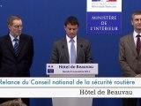Installation du Conseil national de la sécurité routière (CNSR) par Manuel Valls