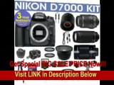[SPECIAL DISCOUNT] REFURBISHED Nikon D7000 Digital Camera + Nikon 18-55mm VR Lens + Nikon 70-300mm Lens + .40x Wide Angle Fisheye Lens + 500mm Mirror Lens + 2x T-Mount Telephoto Lens + 650-1300mm Zoom Lens + 3 Year Cell