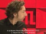 Julie Andrieu : L'heure du psy du 30/11/2012 dans A La Bonne Heure