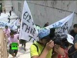 Greece Union Strike: Video of violent riots in Athens, police clash with masked youths