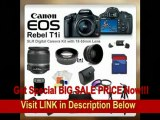 [BEST PRICE] Canon EOS Rebel T1i SLR Digital Camera Kit with 18-55mm Lens + SSE PRO Shooter Deluxe Carrying Case, Batteries, Lens, Flash & Tripod Complete Accessories Package