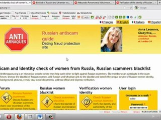 Scammer blacklist photos russian Scams Online