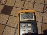température vitre fonctionnement nominal