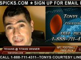 Tennessee Titans versus Houston Texans Pick Prediction NFL Pro Football Odds Preview 12-2-2012