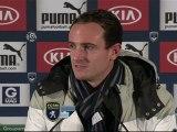 Conférence de presse Girondins de Bordeaux - FC Sochaux-Montbéliard : Francis GILLOT (FCGB) - Eric HELY (FCSM) - saison 2012/2013