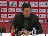 Conférence de presse Valenciennes FC - Stade de Reims : Daniel  SANCHEZ (VAFC) - Hubert FOURNIER (SdR) - saison 2012/2013