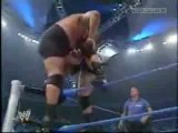 Big Show and Brock Lesnar breaks the ring