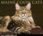 Crafts Book Review: Maine Coon Cats 2013 Wall Calendar by Willow Creek Press