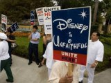 US Entertainment industry workers protest layoffs