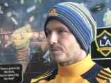 How David Beckham Spent His Last Night as Galaxy Soccer Star
