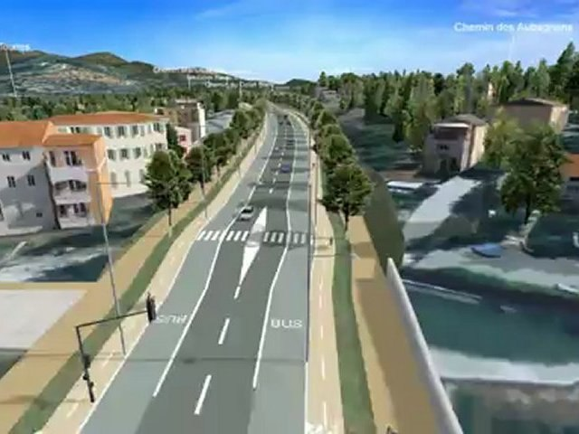 LINEA 4d : le secteur d'Allauch jusqu'à la fin du tracé