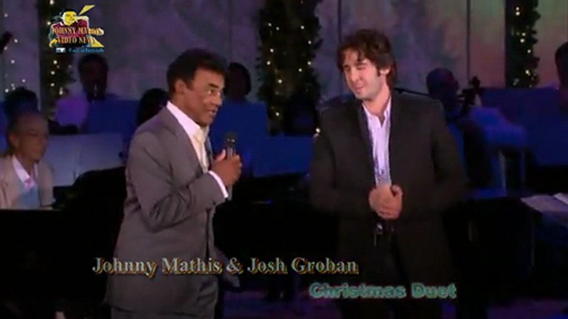 Josh Groban Christmas.Johnny Mathis Josh Groban Christmas Duet