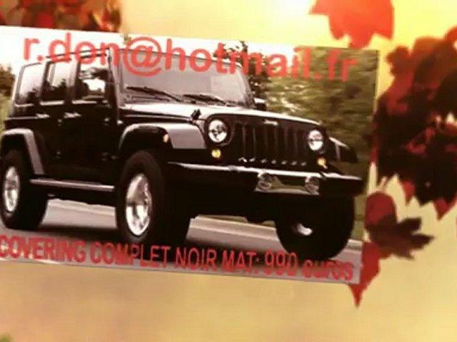 Jeep Wrangler, Jeep Wrangler, Jeep Wrangler essai video, Jeep Wrangler covering, Jeep Wrangler peinture noir mat