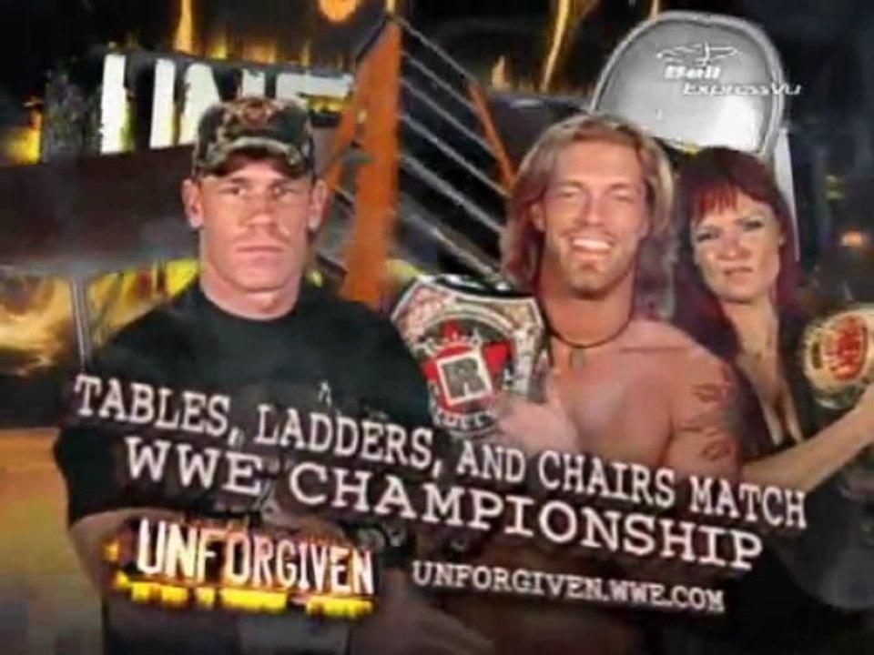 Edge Vs John Cena Tlc Wwe Championship Match Unforgiven 2006 Vidéo Dailymotion