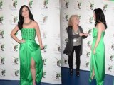 Katy Perry Wows in Green Gown
