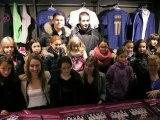 Les joueuses de l'Equipe de France à la Boutique FFF