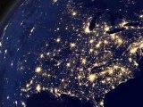 La Terre vue de l'espace la nuit