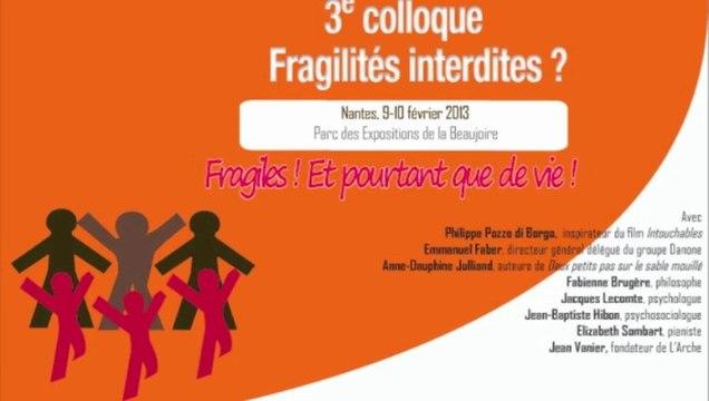 Colloque Fragilités interdites - Rencontre CCI