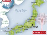 Violent séisme de 7,3 dans le nord-est du Japon, alerte au tsunami