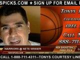 Brooklyn Nets versus Golden St Warriors Pick Prediction NBA Pro Basketball Odds Preview 12-7-2012