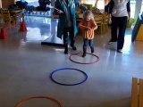 Parcours de sauts variés en maternelle