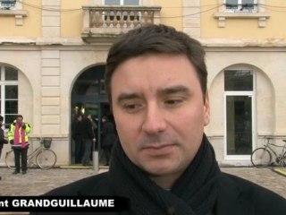 Laurent GRANDGUILLAUME: inauguration de la ligne 2 du tram.