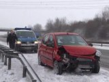Snow sends German drivers into ditches