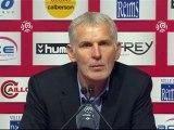 Conférence de presse Stade de Reims - Girondins de Bordeaux : Hubert FOURNIER (SdR) - Francis GILLOT (FCGB) - saison 2012/2013