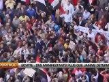 Egypte: Des manifestants plus que jamais déterminés