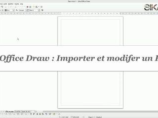 Comment importer et modifier un document PDF avec Draw ?