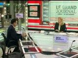 10/12 BFM : Le Grand Journal d'Hedwige Chevrillon - Henri Giscard d'Estaing et Nicole Bricq 1/4