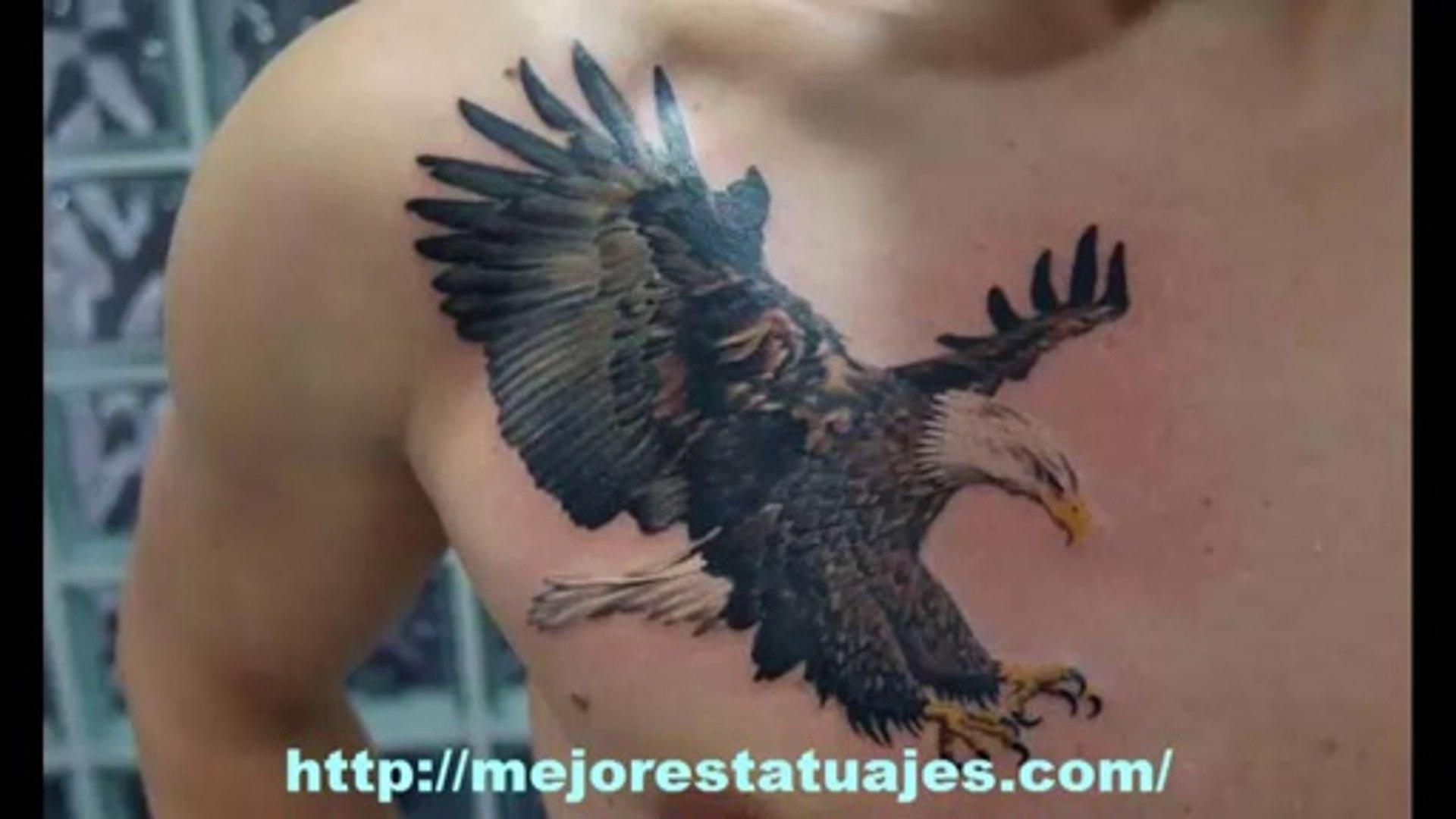 Aguila En La Espalda tatuajes de aguilas en el pecho