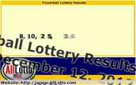 Powerball Lottery Drawing Results for December 12, 2012