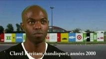 Clavel Kayitare, sprinteur, originaire du Rwanda, double médaille d'argent aux Jeux Paralympiques d'Athènes en 2004