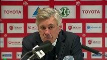 Conférence de presse Valenciennes FC - Paris Saint-Germain : Daniel  SANCHEZ (VAFC) - Carlo ANCELOTTI (PSG) - saison 2012/2013