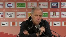 Conférence de presse Stade Brestois 29 - Montpellier Hérault SC : Landry CHAUVIN (SB29) - René GIRARD (MHSC) - saison 2012/2013