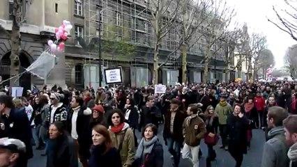 Manifestation pour le Mariage pour tous du 16 décembre 2012 à Paris.