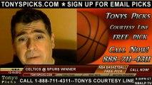 San Antonio Spurs versus Boston Celtics versus Pick Prediction NBA Pro Basketball Odds Preview 12-15-2012