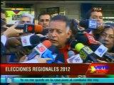 Arias Cárdenas: Todo debe desarrollarse en plena paz