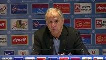 Conférence de presse Montpellier Hérault SC - SC Bastia : René GIRARD (MHSC) - Frédéric HANTZ (SCB) - saison 2012/2013
