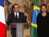 Allocution du Président de la République lors du Dîner d'Etat avec Mme Dilma ROUSSEFF, Présidente de la République Fédérative du Brésil