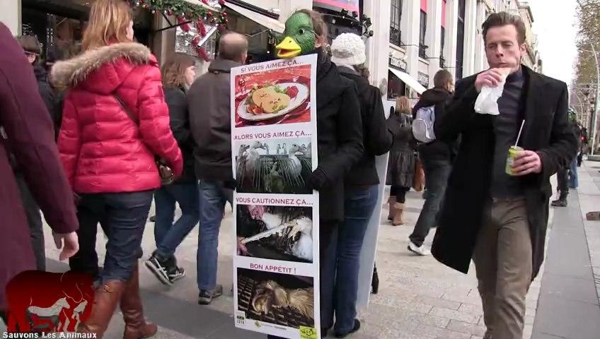Happening contre le foie gras (15.12.2012)