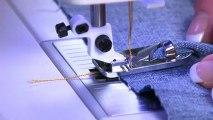 Pied de biche Husqvarna Viking rabatteur couture à plat de 9 mm de large 413185545
