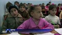 Turquie: une école de fortune pour les petits réfugiés syriens