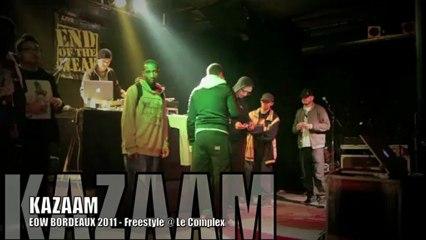 KAZAAM, Freestyle @ EOW Bordeaux Déc. 2011