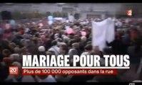 17/11/12 Les opposants au mariage homosexuel au 20H de F2 - La Manif Pour Tous