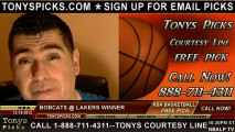 LA Lakers versus Charlotte Bobcats Pick Prediction NBA Pro Basketball Odds Preview 12-18-2012