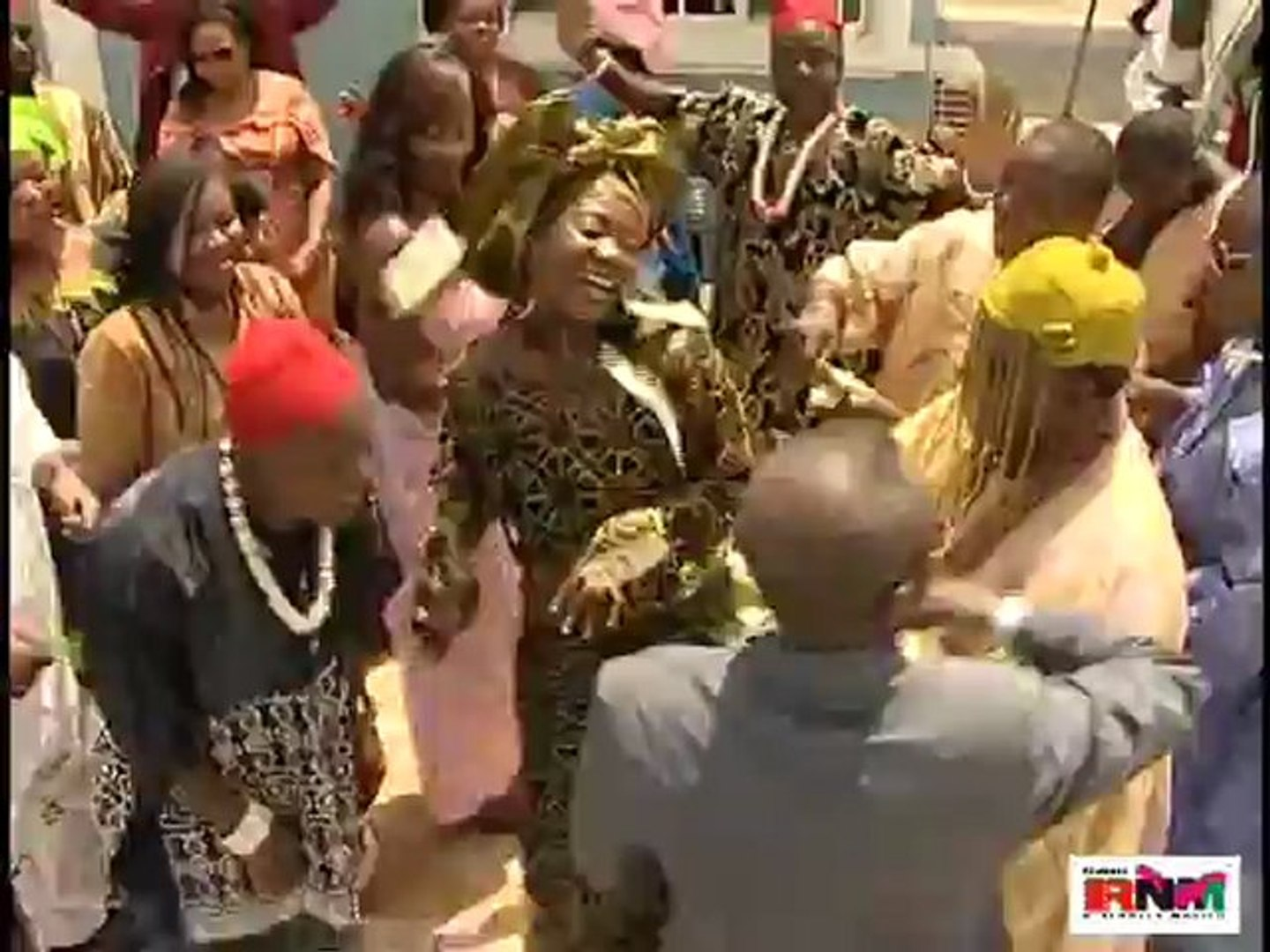 Nkem Owoh Digs It Out With Mercy Johnson On The Dance Floor